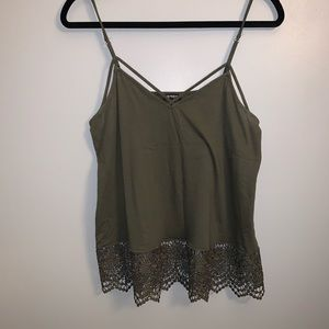 Express Strappy Lace Detailed Tank